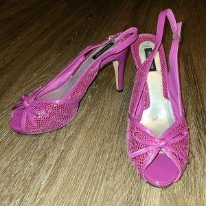 White House Black Market Purple Jenn Exotic Heels